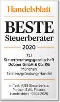 Trade Journal (Handelsblatt) Award – TLI Steuerberater Best Tax Advisers 2020