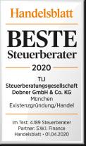 Handelsblatt Auszeichnung – TLI Steuerberater Beste Steuerberater 2020